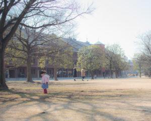 赤レンガと横顔(Nikon D5500)