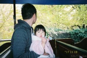作例:パークトレインと父娘(Ricoh R10)