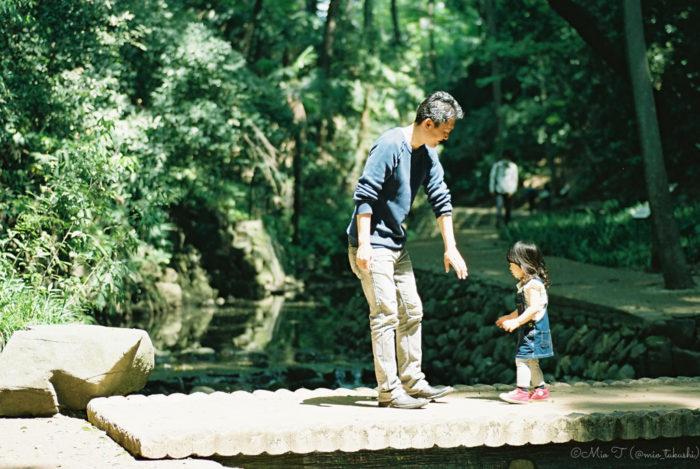 お父さんとShicoお向かい - Nikon F2